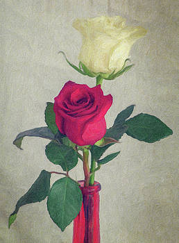 Roses - Painting by Garvin Hunter