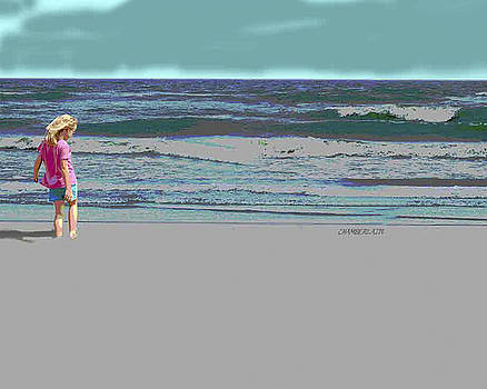 Rosie on the Beach by Walter Chamberlain