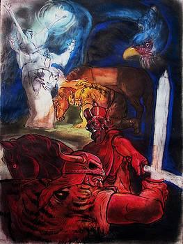 Rostam And Esfandiyar by Mehrdad Sedghi