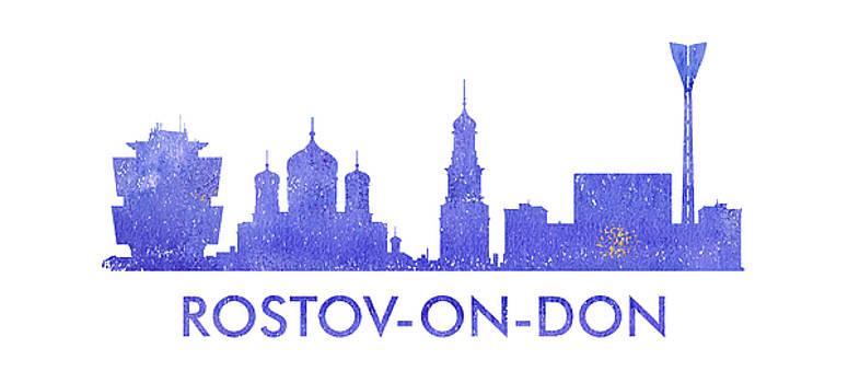 Vyacheslav Isaev - Rostov-on-Don city purple skyline