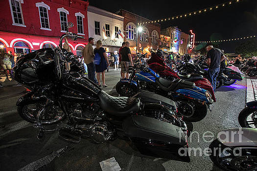 Herronstock Prints - ROT Biker Rally fans and thousands of thundering motorcycles roa