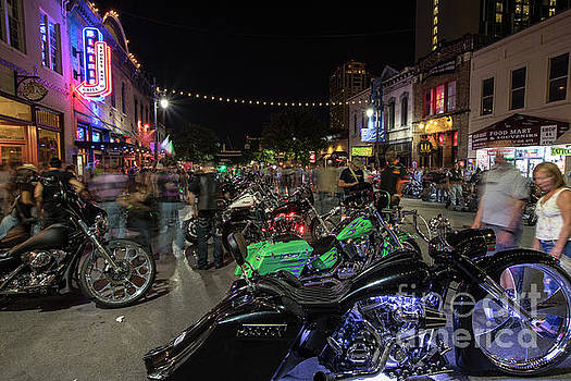 Herronstock Prints - ROT Biker Rally rolls into downtown Austin and takes over 6th St