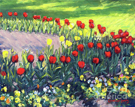 Rotary Red Tulips by Candace Lovely