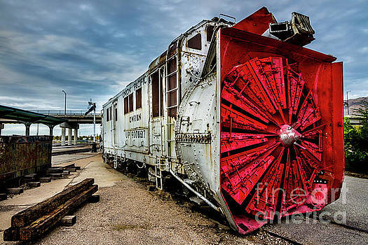 Rotary Snow Plow Vintage Train - Utah by Gary Whitton