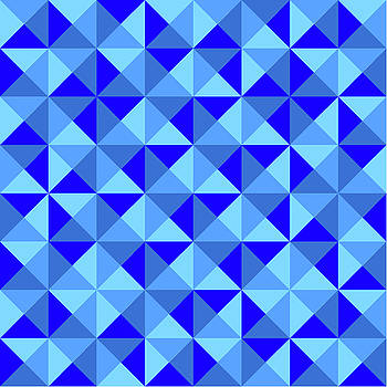 Rotated Blue Triangles by Ron Brown