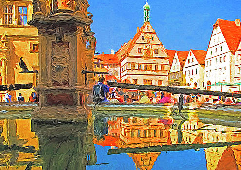 Rothenburg Square Fountain by Dennis Cox Photo Explorer