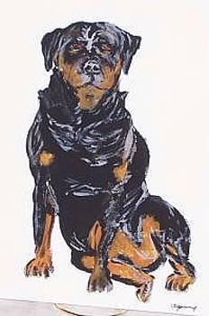 Rotweiller by Kathy Young