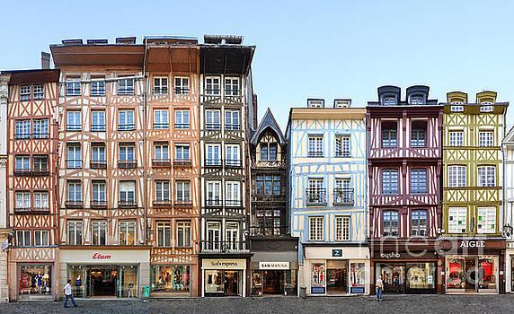 Rouen Timber Framed Facades at Rue du Gros-Horloge by Joerg Dietrich