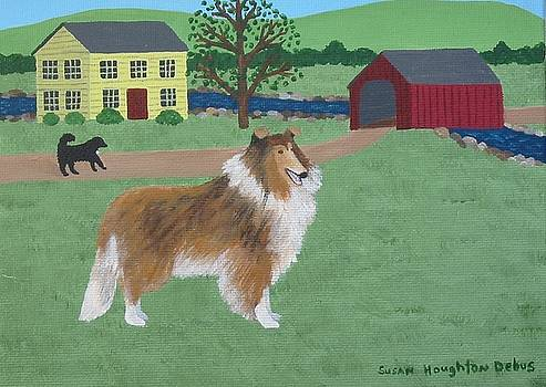 Rough Coated Collie by Susan Houghton Debus