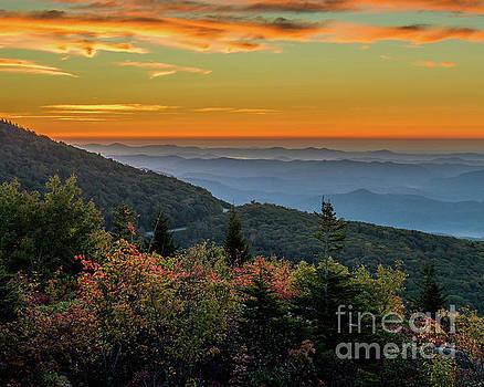 Rough Morning - Blue Ridge Parkway Sunrise by Mike Koenig