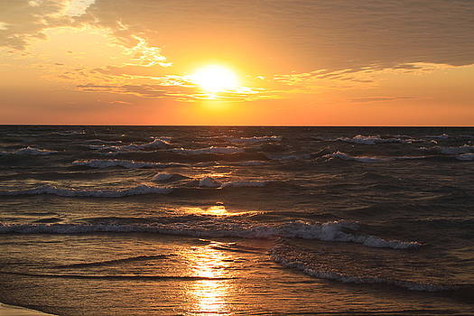 Rough Seas At Sunset by Chuck Bailey