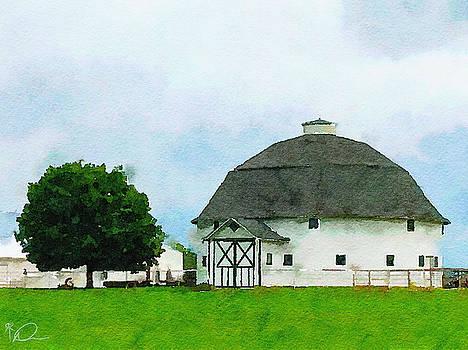 Round Barn in Illinois by David Derr
