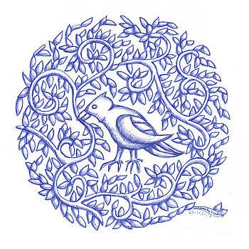 Round Bird January 17 by Donna Huntriss
