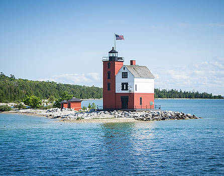Round Island Lighthouse by Kimberly Kotzian