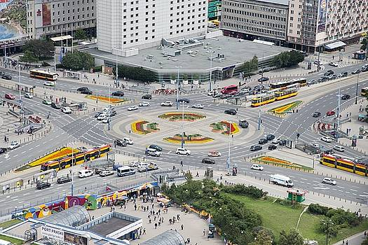 Roundabout in Warsaw by Chevy Fleet