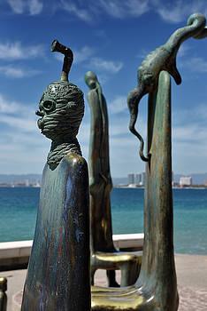 Reimar Gaertner - Roundabout of the Sea surreal creatures bronze sculptures Maleco