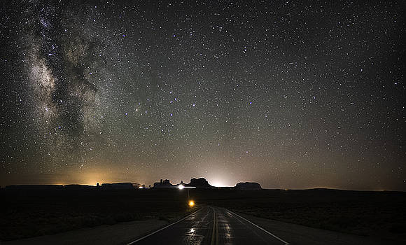 Route 163 To Monument Valley by Tony Fuentes