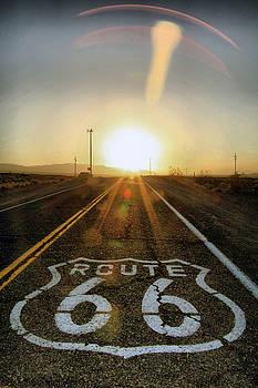Route 66 at Mojave Desert by Ferran Badia
