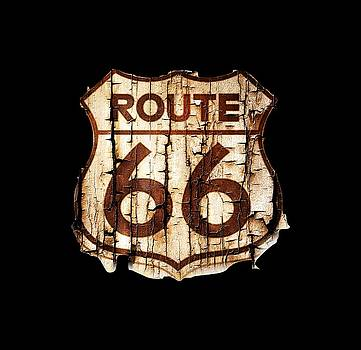 Route 66 Emblem Grunge by Kevin Moore