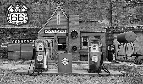 Route 66 Filling Station by Joe Sparks