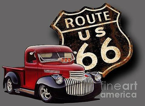 Route 66 Pickup by Paul Kuras