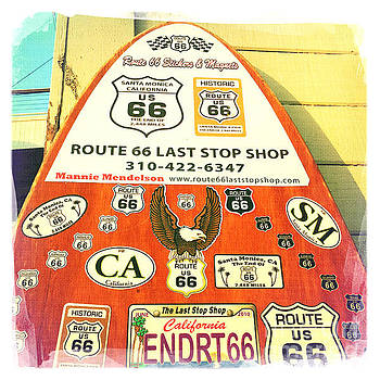 Route 66 Surfboard by Nina Prommer