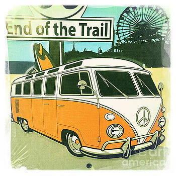 Route 66 VW Bus End of the Trail by Nina Prommer