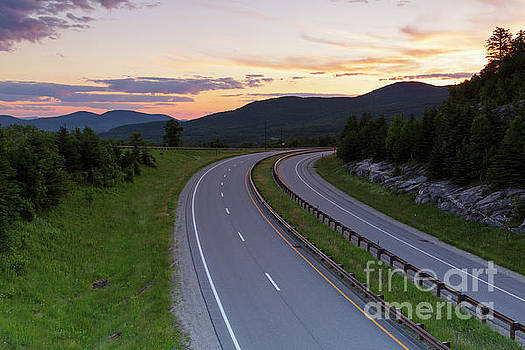 Route 93 - Franconia Notch State Park New Hampshire by Erin Paul Donovan