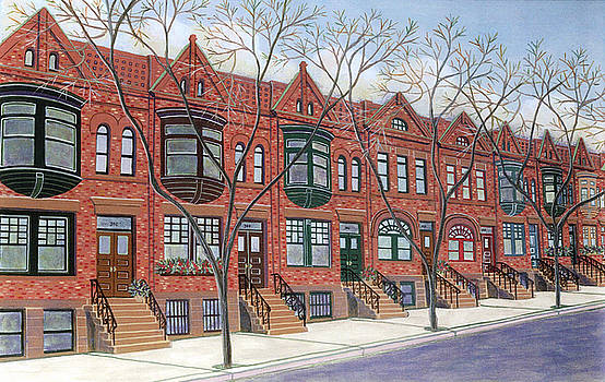Row Houses by David Hinchen