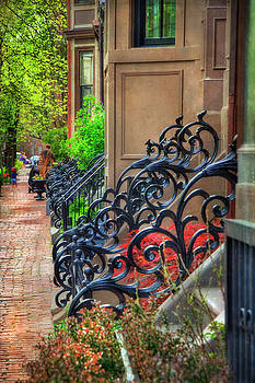 Row Houses - South End Boston by Joann Vitali