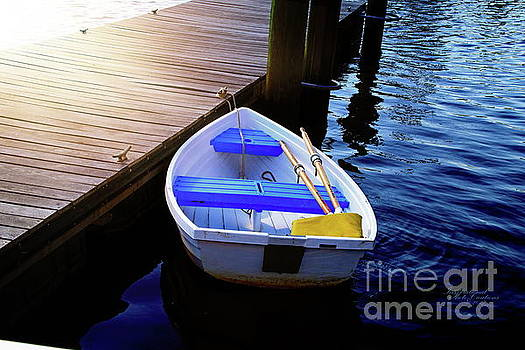 Rowboat at Sunset by Inspirational Photo Creations Audrey Taylor