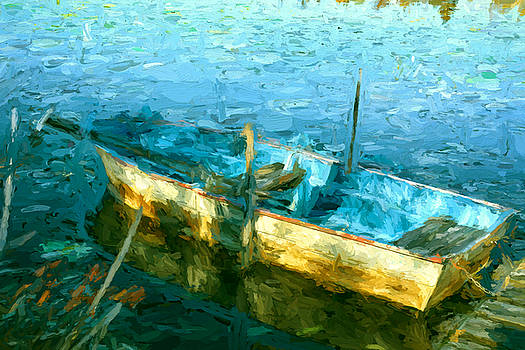Rowboat In Morning Sun by Dale Witherow