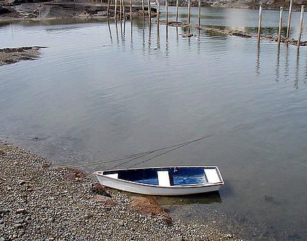 Rowboat on the shore by Joe Maranzano