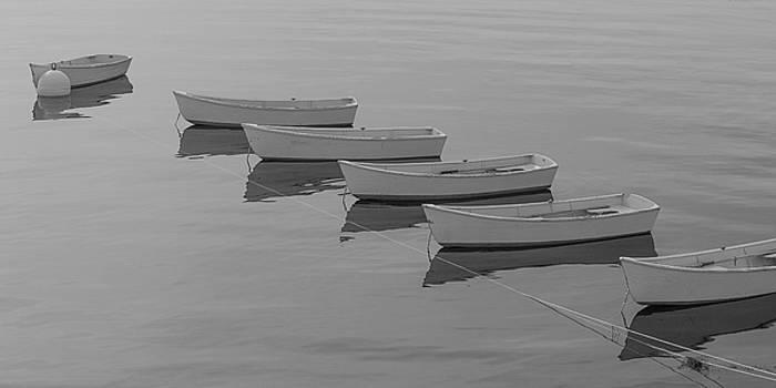 Rowboats at Star island by Ken Kartes