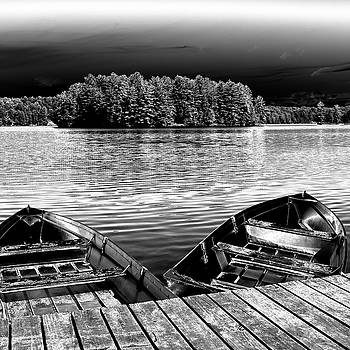Rowboats At The Dock 4 by David Patterson