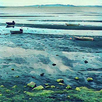 Rowboats in Low Tide by Richard Hinds