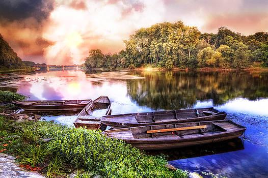 Debra and Dave Vanderlaan - Rowboats on the River at Dawn