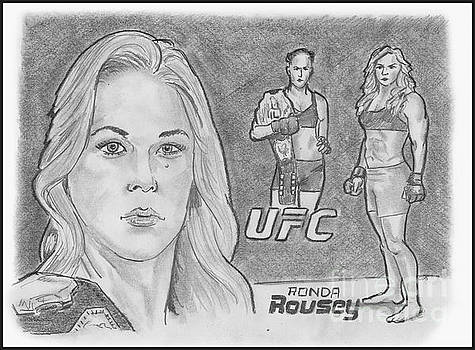 Rowdy Ronda Rousey by Chris DelVecchio