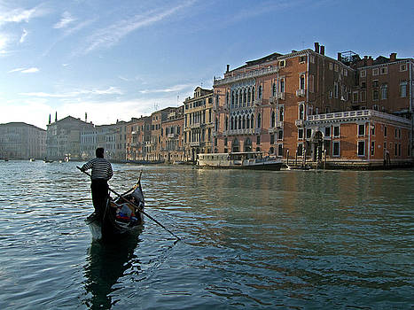 Mary Attard - Rowing in Grand Canal in Venice