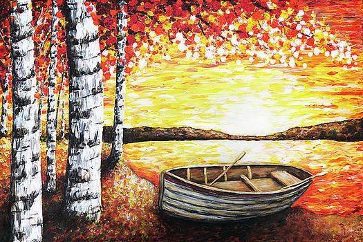 Rowing on Sunset Lake by Jennifer Allison