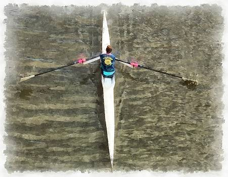 Rowing on the river by Ashish Agarwal