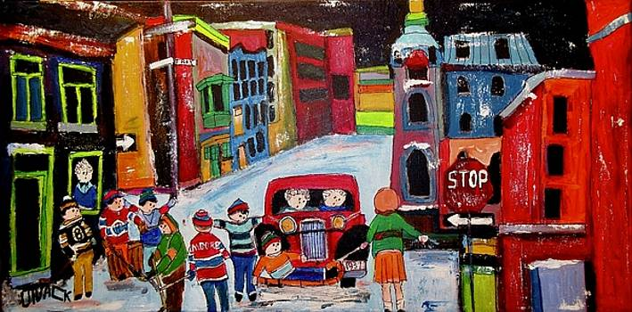 Roy Street Winter Scene by Michael Litvack