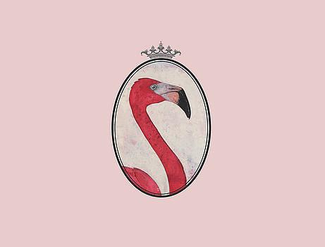 Royal Flamingo Queen by Judith Sturm
