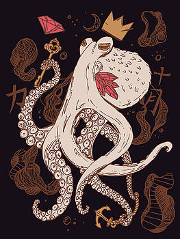 Royal Octopus Chi Gold by Kenal Louis