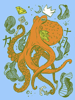 Royal Octopus Florida Kiss by Kenal Louis