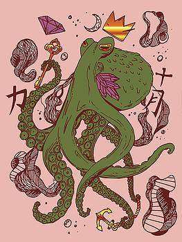 Royal Octopus Gold Jungle by Kenal Louis
