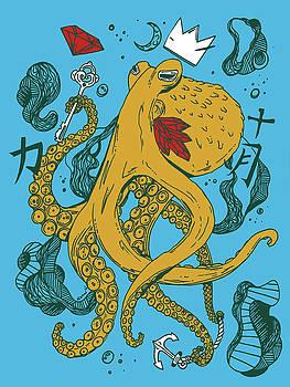 Royal Octopus Miami Tones by Kenal Louis