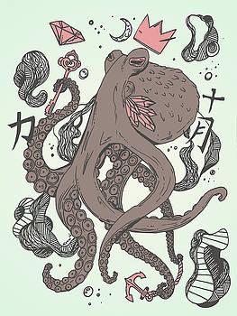 Royal Octopus Treasure Brown by Kenal Louis