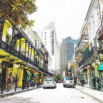 Royal street New Orleans Hotel Monteleone by Paul Wilford
