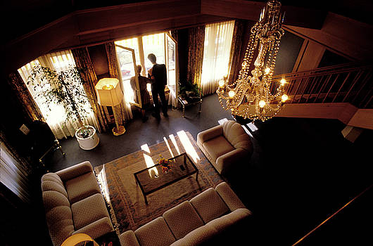 Royal Suite at Victoria Jungfrau in Switzerland by Carl Purcell